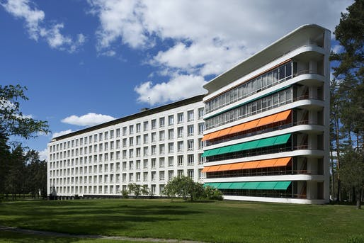 The Paimio Sanatorium is considered one of Aalto's most significant works. Photo: Maija Holma, Alvar Aalto Museum.
