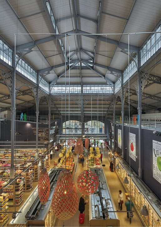 "<a href=""https://archinect.com/architecturepatrickmauger/project/secr-tan-covered-market"">Secrétan Covered Market</a> in Paris, France; Renovated by <a href=""https://archinect.com/architecturepatrickmauger"">Architecture Patrick Mauger</a>"