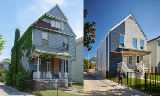 The Yannell PHIUS+ House - before and after. Image: Christopher Barrett / HPZS