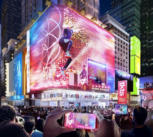 Palace Theater redevelopment in NYC. Image: TSX Broadway.