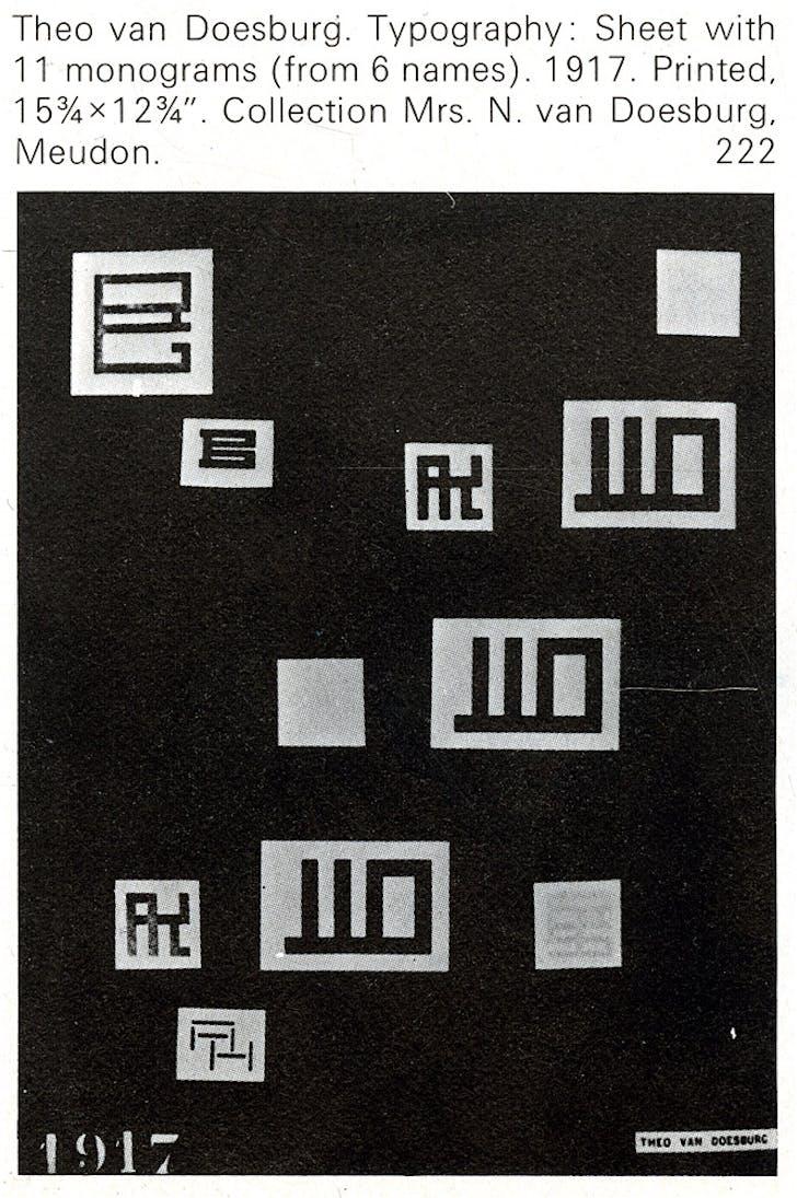 Theo Van Doesburg, Typography