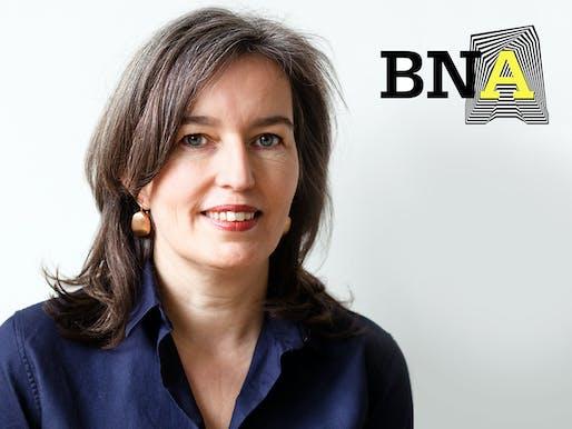 Nathalie de Vries, architect, urban designer and co-founder of MVRDV, will be heading the Royal Institute of Dutch Architects (BNA) starting July 1. (Photo: Barbra Verbij; Image via mvrdv.nl)
