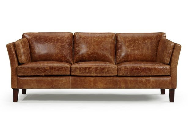 Vintage 1960 Scandinavian Leather Sofa | Kent & Ross | Archinect