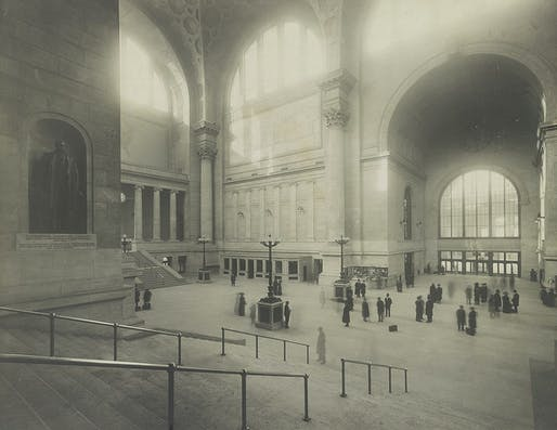 Historic photograph of the original Pennsylvania Station's waiting room in 1911.