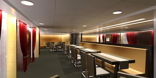 Banquette Seating in the Dining Area