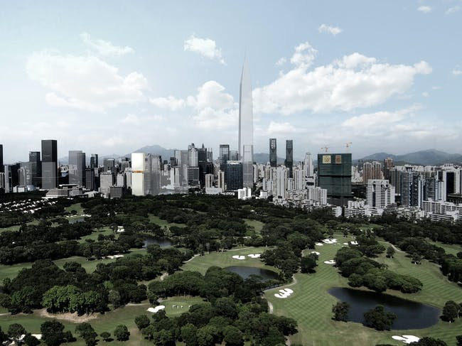 View from west (Image courtesy of OMA)