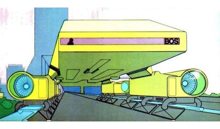 Lester Walker straddle bus via New York Magazine, 1968. Drawn by Craig Hodgetts.