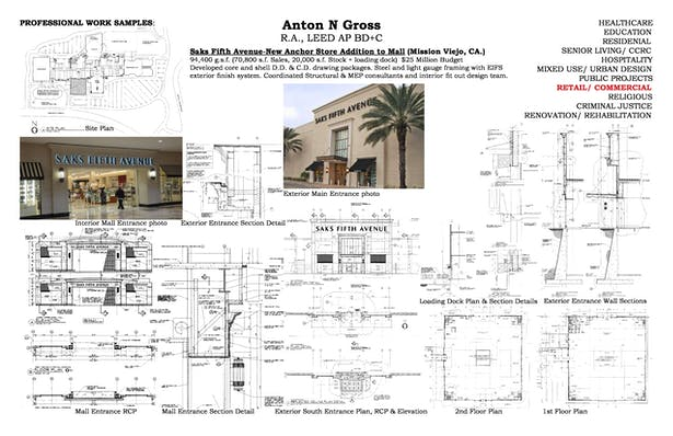 Large Scale Retail Projects Saks Fifth Avenue - Roosevelt Field, NY