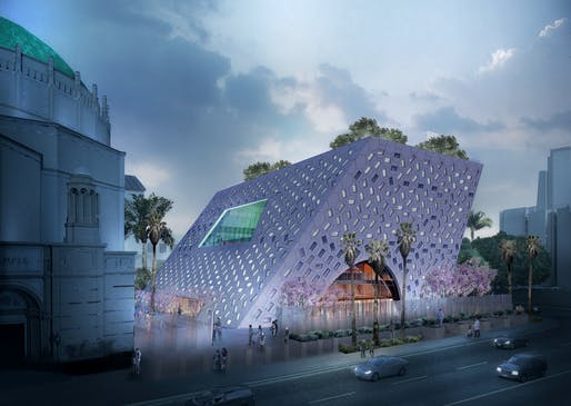 Audrey Irmas Pavilion. Courtesy OMA/Luxigon.