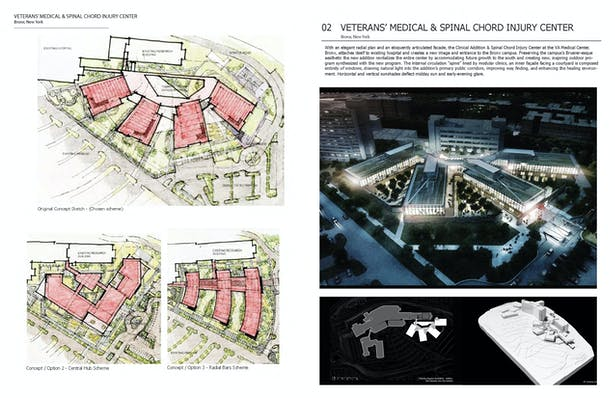VA Bronx, National Spinal Chord Injury Center  80,000 SF Veterans' Affairs Healthcare Facility Project Team - RDrury while at Cannon Design