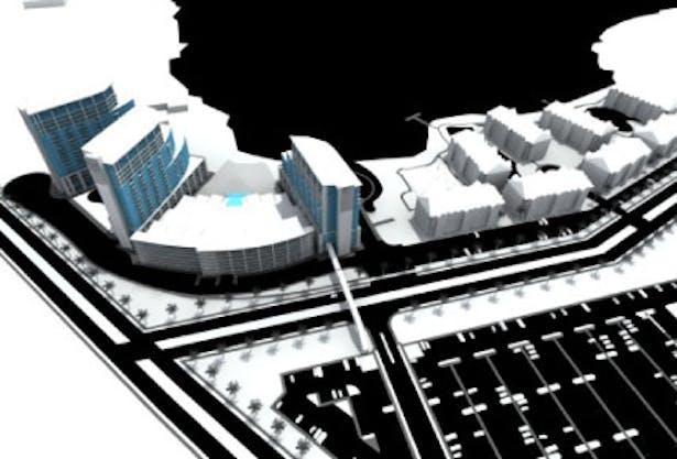 3D Model of Master Plan for Grand Beach Resort in Orlando, FL
