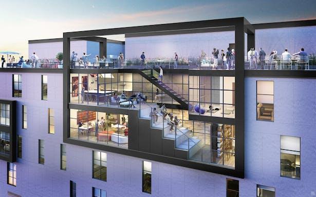 'X' Apartments / Cordogan Clark & Associates Architects / Engineers