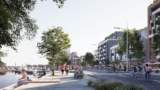 Detroit East Riverfront Framework Plan, Detroit | Skidmore, Owings & Merrill LLP. Image © SOM.