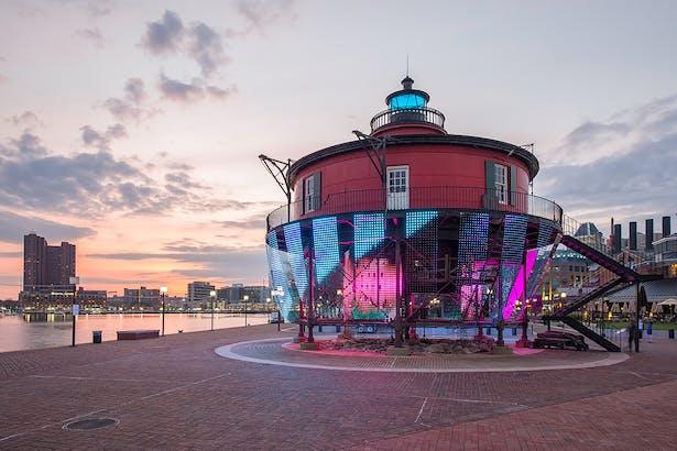 Lightwave with Baltimore Harbor in Background - Dusk