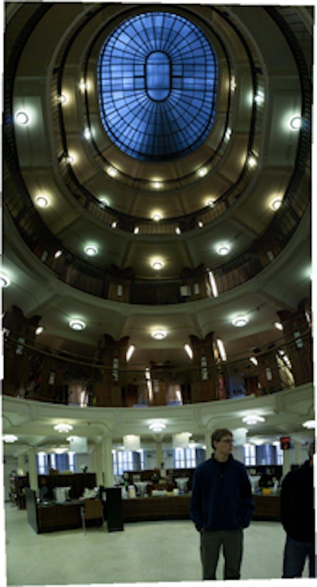 National Library Rotunda, and Sam Fox Student Seth Bartlett