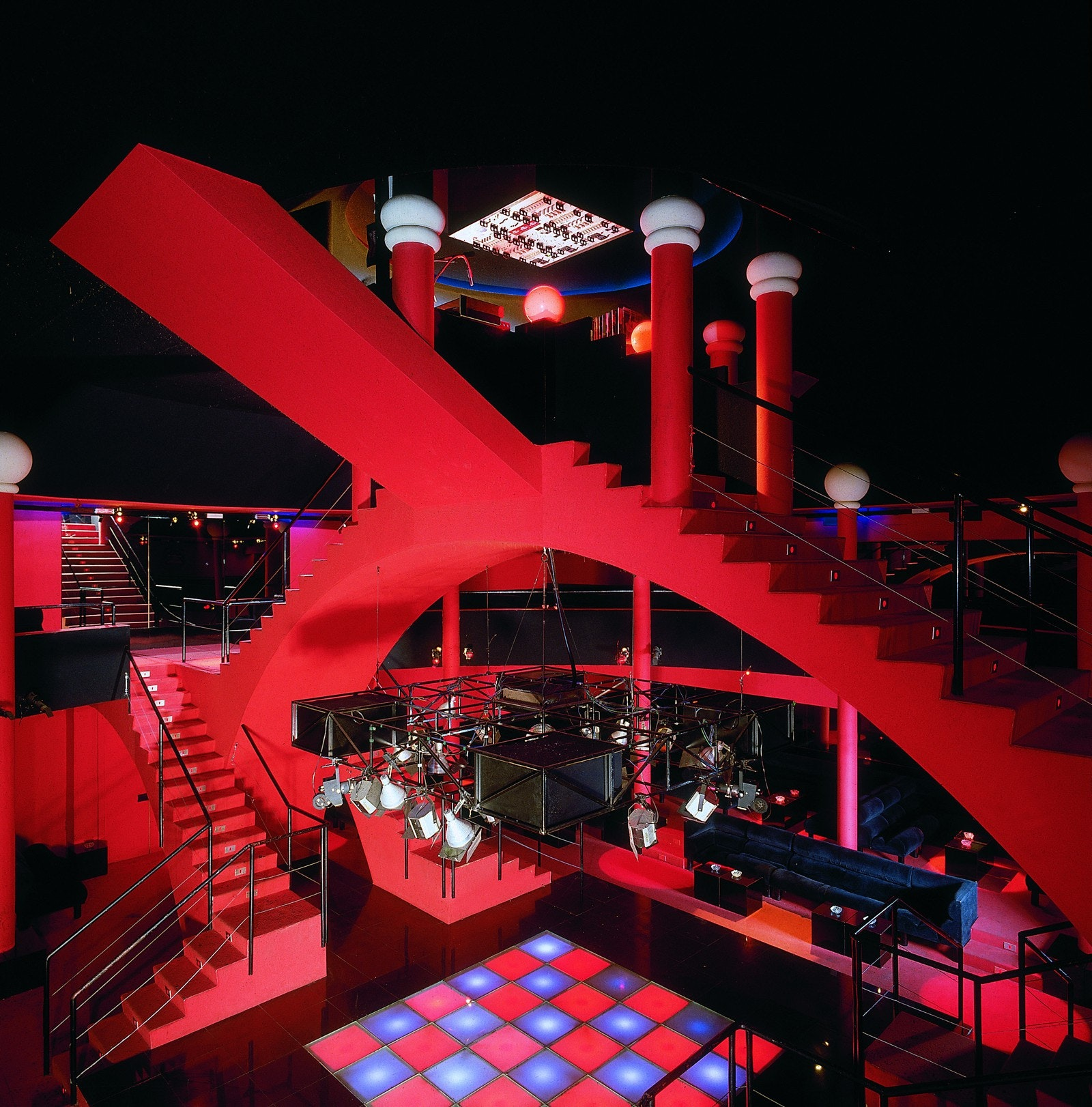 Discotheque Flash Back, Borgo San Dalmazzo, Ca. 1972. Interior Design:  Studio65