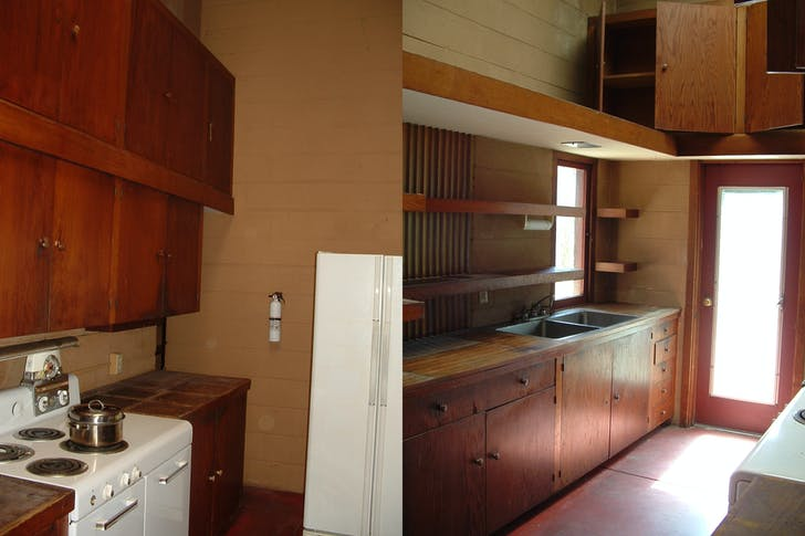 Kitchen Interior before restoration. Photos by Dan Nichols