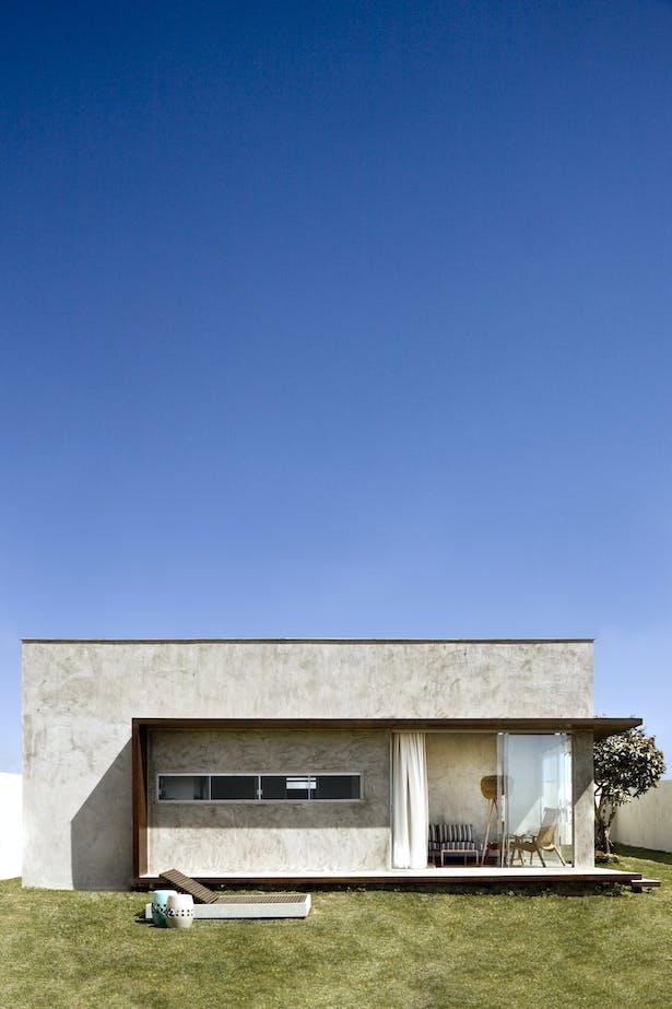 Vista externa da caixa de concreto