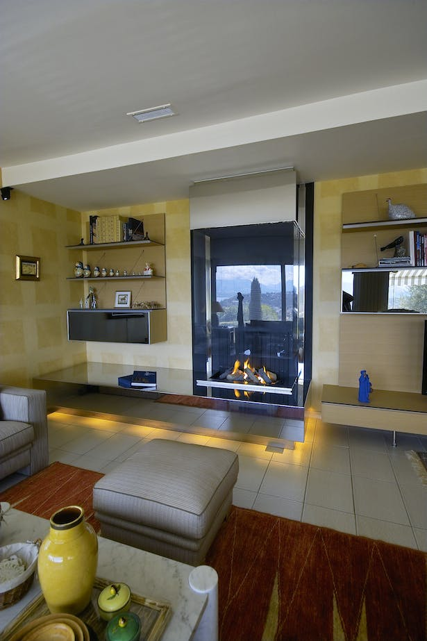 Bloch Design contemporary fireplace stainless steel 4