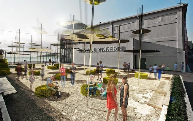 Rendering of SO?'s Sky Spotting Stop, winning design of the 2013 Young Architects Program, Istanbul Modern (Image: SO?)