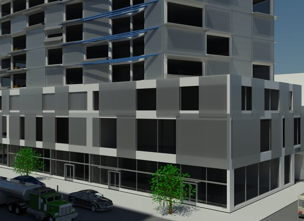 Dynamic Facade Apartment and commercial building