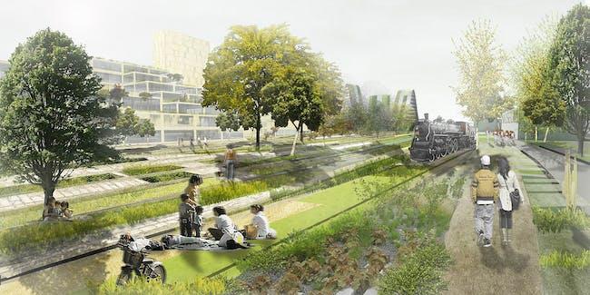 Park view (Image: De Architekten Cie.)
