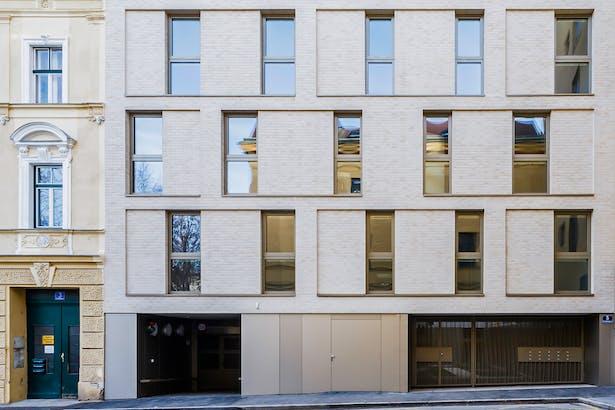 facade, streetside view