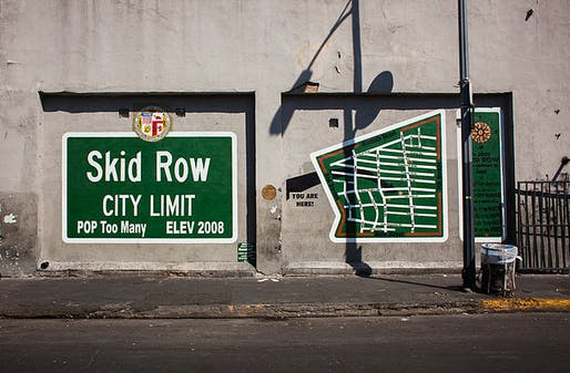 A mural in Skid Row. Photo: Stephen Zeigler