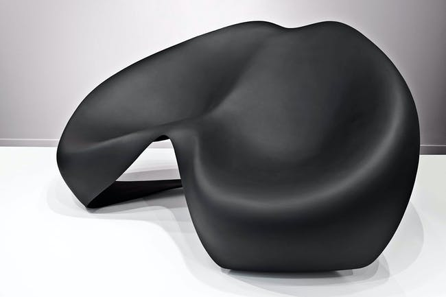 The Manta Ray chair by Zaha Hadid for Sawaya and Moroni. Image credit Jacopo Spilimbergo.