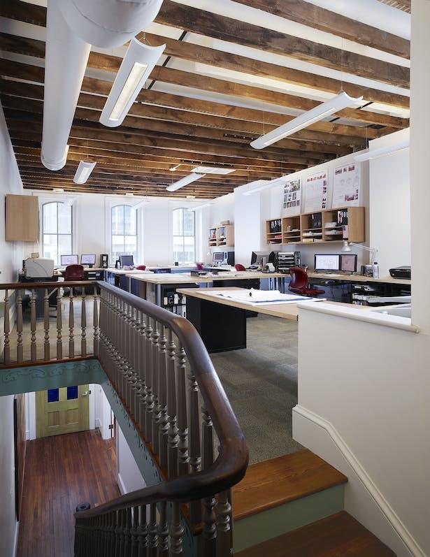 Studio space on upper level