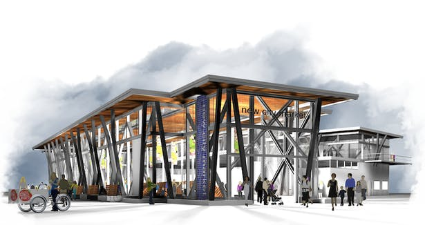 Conceptual rendering of the New City market