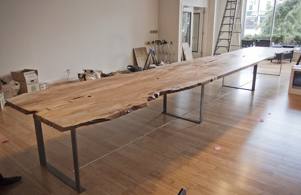 24 Ft Spalted Maple Live Edge Conference Table Michael