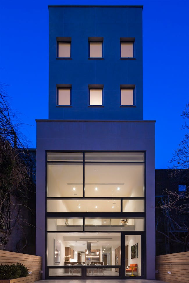 Townhouse for Art Collectors in New York, NY by Turett Collaborative Architects