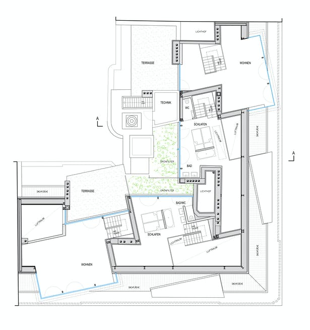 roof plan © HOLODECK architects