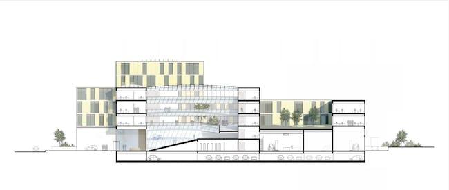 ZSW SECTION BB (Image: Henning Larsen Architects)