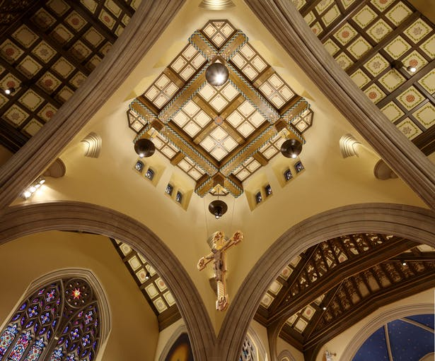Crucifix Fabrication and Gilding, Ceiling Restoration, Decorative Painting