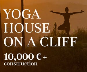 Yoga House On A Cliff