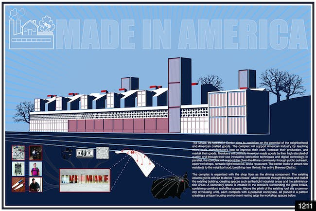 Honorable Mention: MADE IN AMERICA by Jenny Kim & Andrew Lords (San Pedro, California, United States)