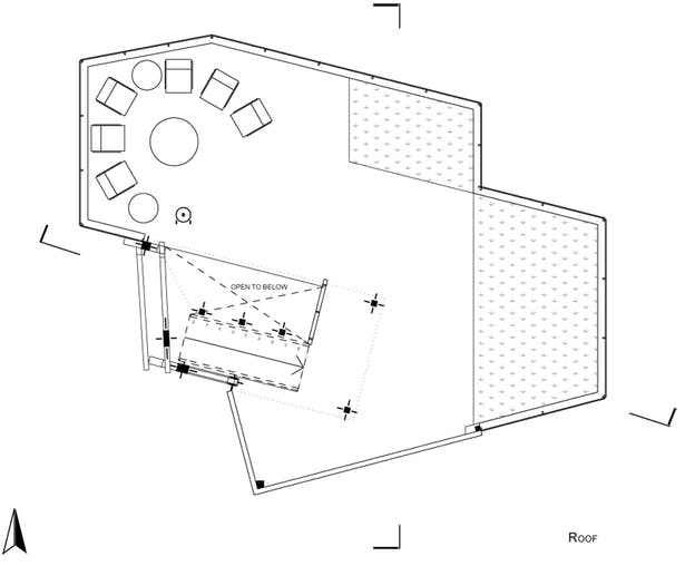 Roof Plan - Patio + Garden + Passive HVAC