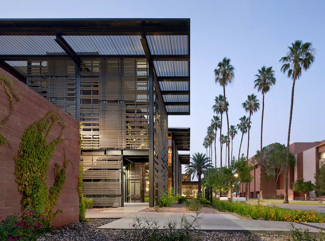 ASU Health Service in Tempe, Arizona, by Lake Flato Architects. Image courtesy of the MCHAP.