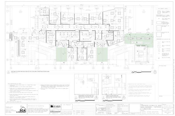 Construction Reflective Ceiling Plan