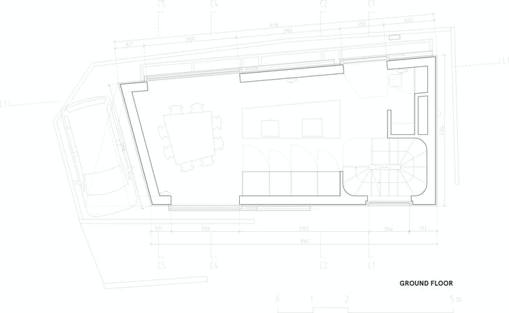 Floor plan 0, courtesy of Wiel Arets Architects (WAA)