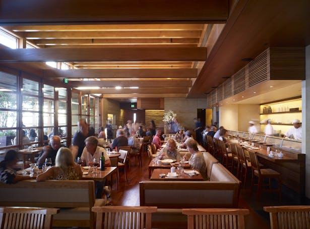 Each dining area enjoys abundant filtered natural light