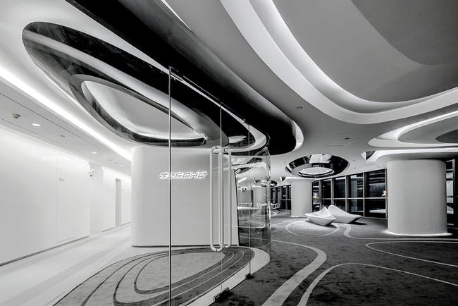Sky SOHO Leasing Showroom in Shanghai, China by GAP Architects; Photo: Raymond Lau/Jerry Yin