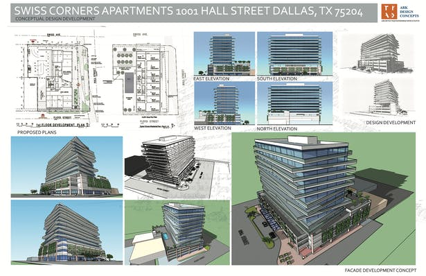 10 stories Apartment Housing 3 level parking and retail first floor (Mix-Use)Dallas TX