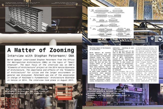 A Matter of Zooming – Interview with Stephan Petermann/ OMA