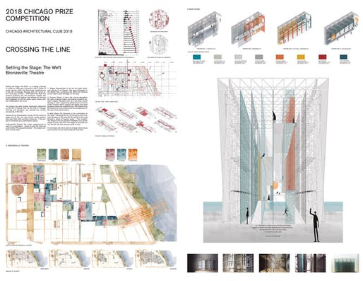HONORABLE MENTION: SETTING THE STAGE: THE WEFT by Ricardo Fernandez Gonzalez. Image courtesy Chicago Architectural Club.