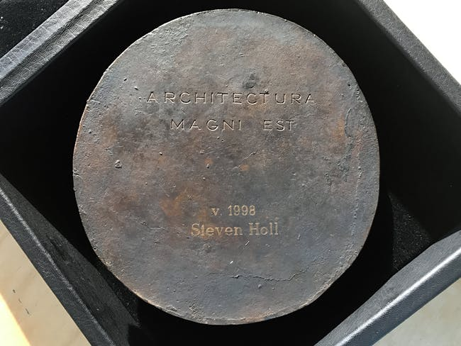 Steven Holl's Alvar Aalto medal