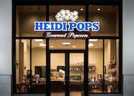 Heidi Pops Gourmet Popcorn Lit Signage