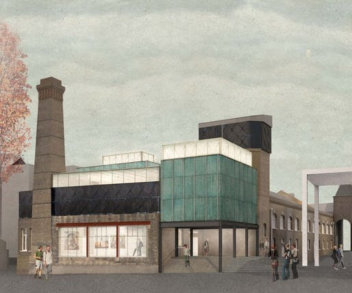 Rendering of Goldsmiths Centre for Contemporary Art in London. Image: Assemble.